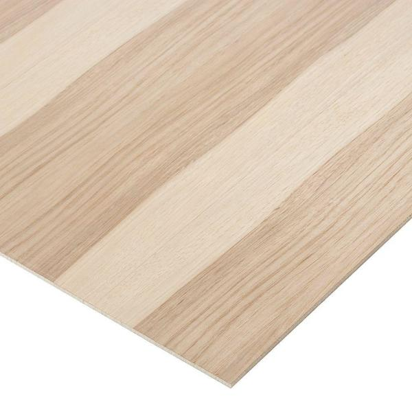 1/4 in. x 1 ft. x 1 ft. 7 in. Hickory PureBond Plywood Project Panel (10-Pack)