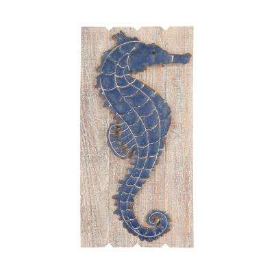 "30 in. x 15 in. ""Jolly Harbour"" Wood and Metal Wall Art"