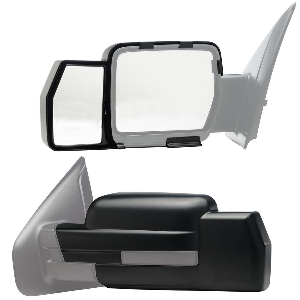 Snap Zap Clip On Towing Mirror Set For 2009 2014 Ford F 150 Wiring Mirrors