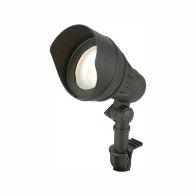 Low-Voltage 75-Watt Equivalent Black Outdoor Integrated LED Landscape Flood Light