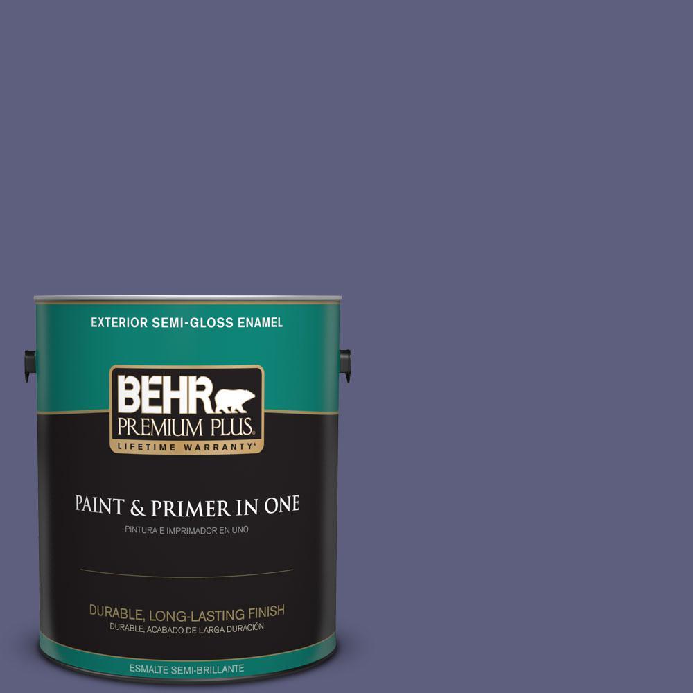 1-gal. #M550-7 Strong Iris Semi-Gloss Enamel Exterior Paint