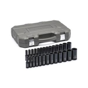 GearWrench 1/2 inch Drive SAE/Metric Deep Impact Socket Set (27-Piece) by GearWrench
