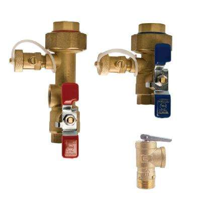 3/4 in. Lead Free Copper Tankless Water Heater Valve Installation Kit
