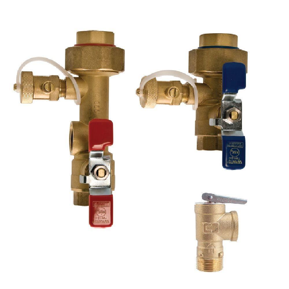 Watts 3/4 in. Lead Free Copper Tankless Water Heater Valve Installation Kit