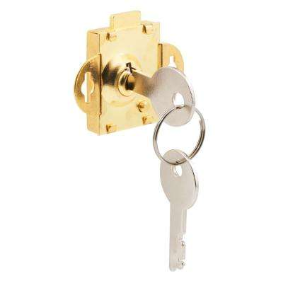 Brass-Plated Steel Mailbox Lock