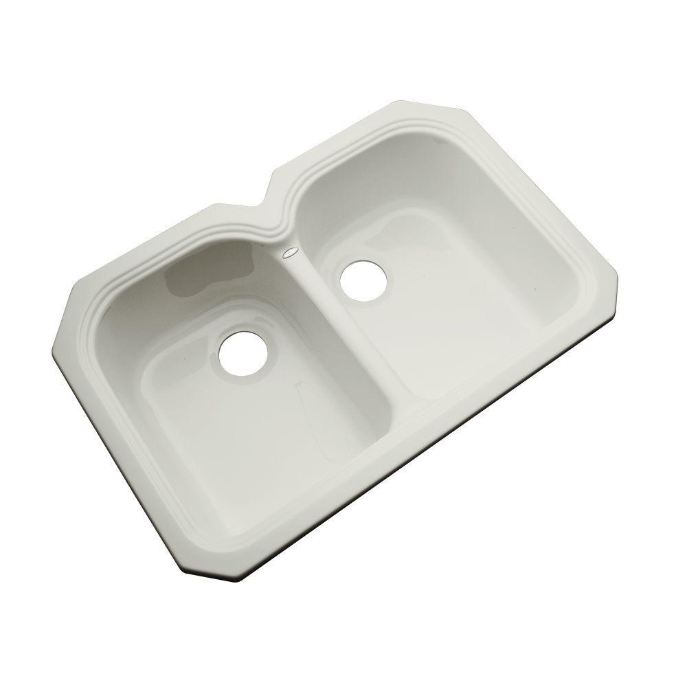 Hartford Undermount Acrylic 33 in. Double Bowl Kitchen Sink in Tender