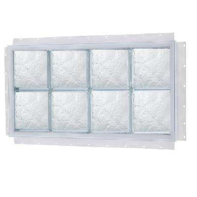 NailUp Ice Pattern Solid Glass Block Window