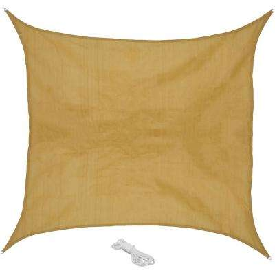 16 ft. x 16 ft. Beige Square Sun Shade Sail for Patio, Lawn and Garden