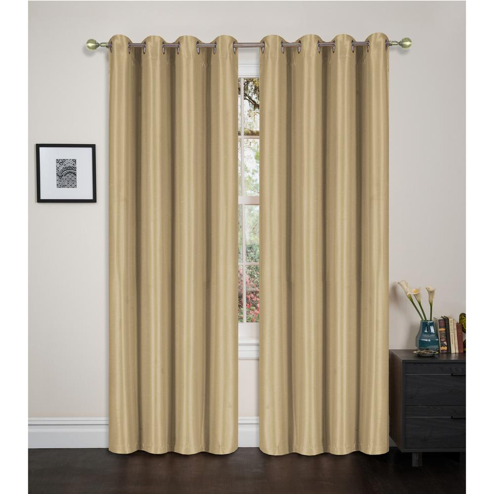 L Blackout Grommet Top Curtain In Ivory