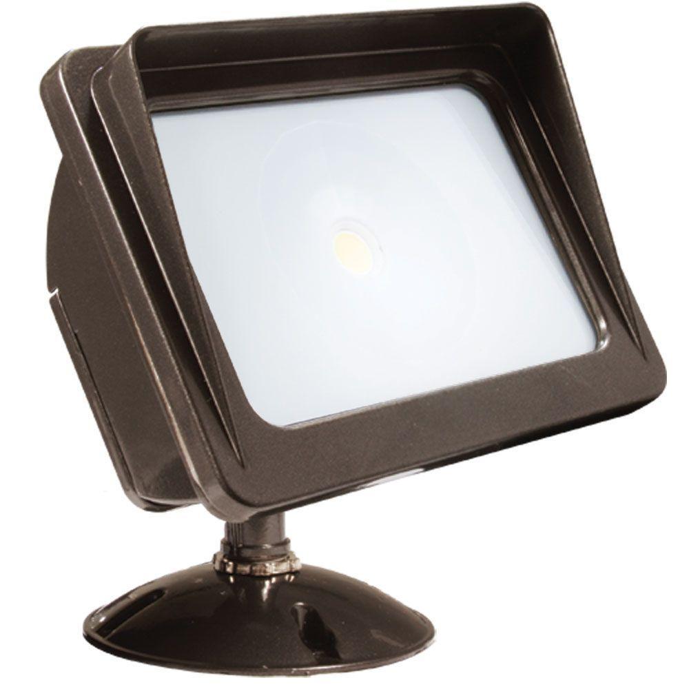 Dark Bronze LED Outdoor Wall-Mount Flood Light