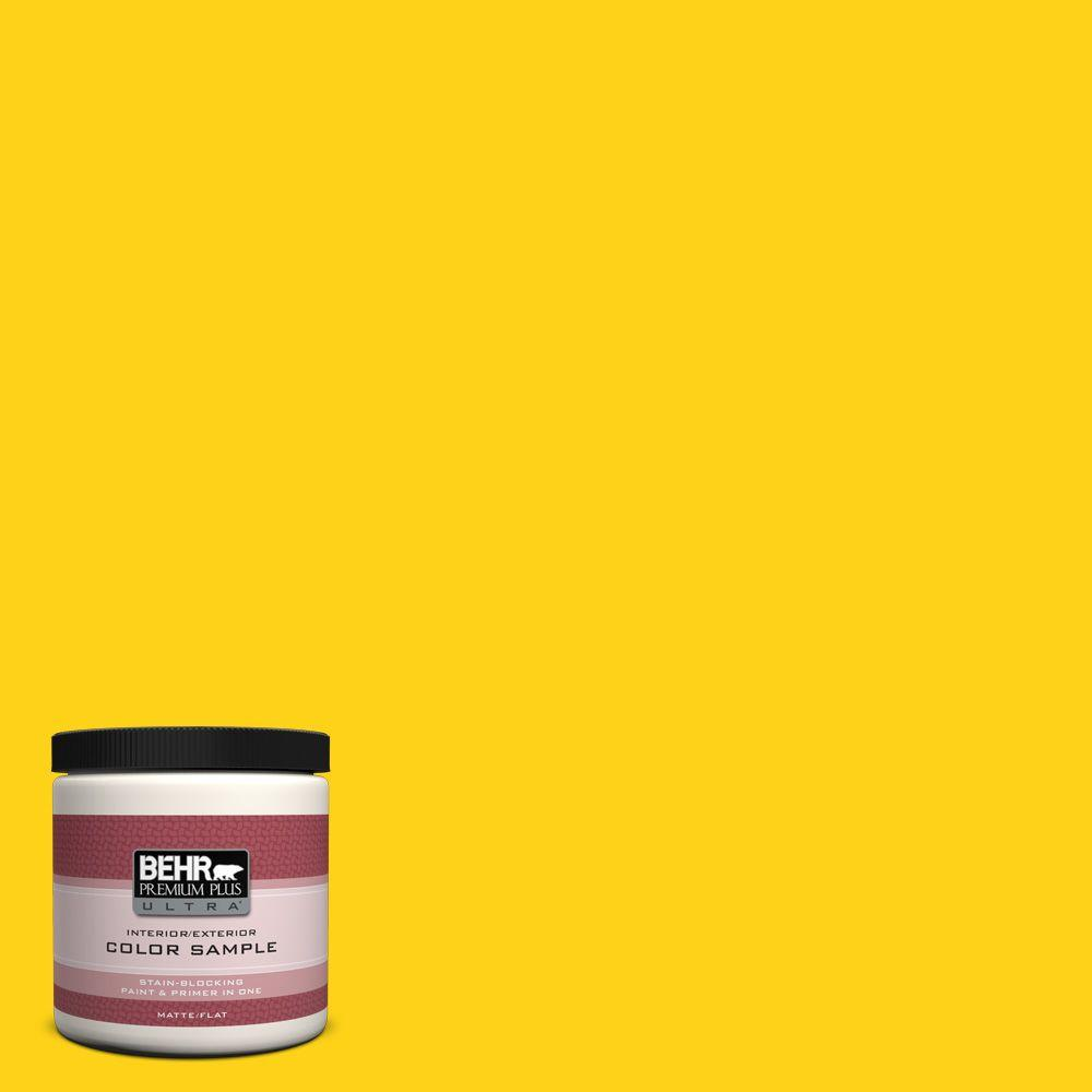 S G 390 Lemon Zest Matte Interior Exterior Paint And Primer In One Sample