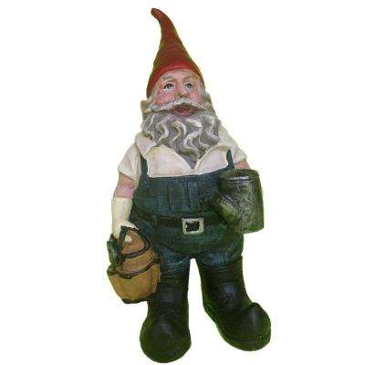 21 in. Gardener Gnome Holding Watering Can Collectible Statue