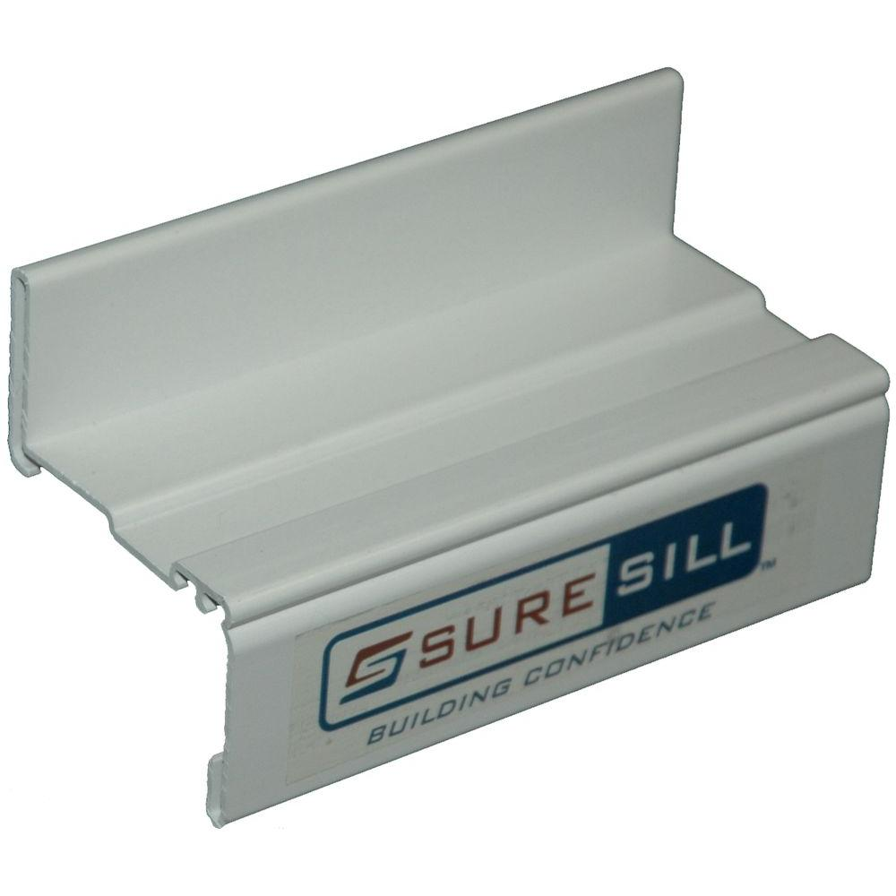 Suresill 2 In White Sloped Sill Pan Extension Coupling Ss