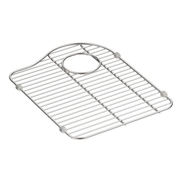 Hartland 13-1/8 in. x 16-7/8 in. Stainless Steel Right-Hand Bottom Bowl Rack for K-5818 Sink