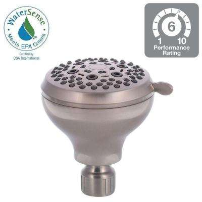 E/O 6-Spray 3.5 in. Showerhead in Brushed Nickel