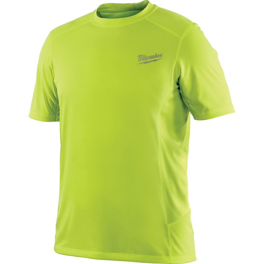 2087700d540 Milwaukee Men s 2X Workskin High Visibility Yellow Light Weight Performance  Shirt