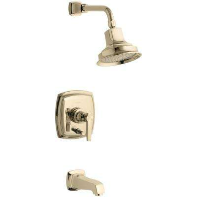 Margaux 1-Handle Rite-Temp Tub and Shower Faucet Trim Kit in Vibrant French Gold (Valve Not Included)