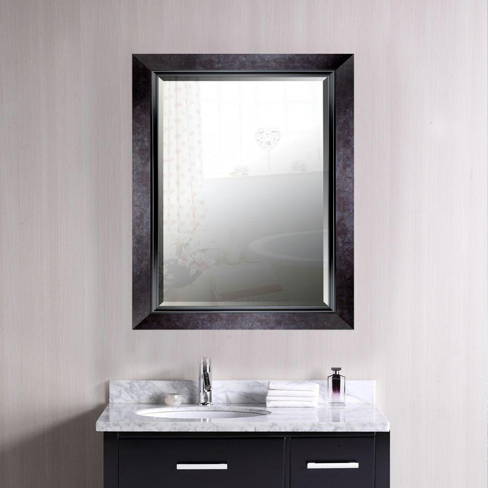 35 25 In H X 27 25 In W Black Marble Style Frame With Liner