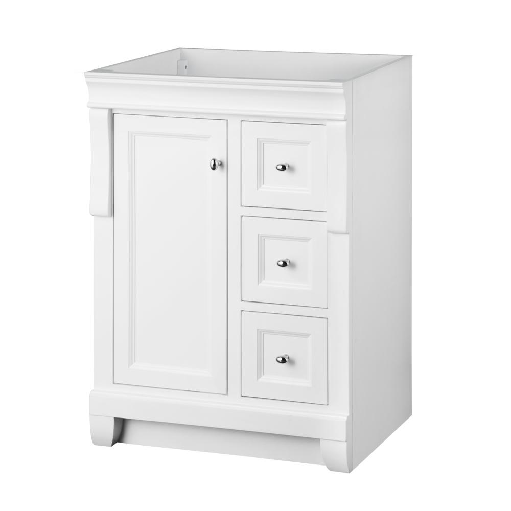 Home Decorators Collection Naples 24 In W X 21 63 In D Bath Vanity Cabinet Only In White Nawa2421d The Home Depot
