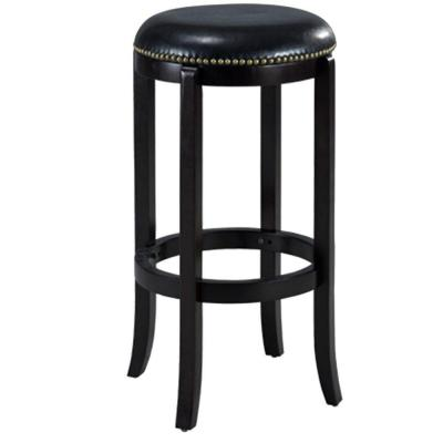 Cordova 29 in. Black Swivel Cushioned Bar Stool