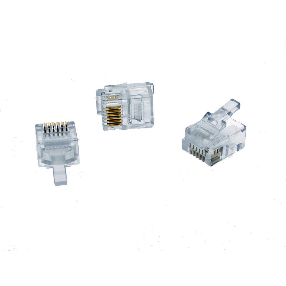 RJ11 Modular Plugs (25-Pack)