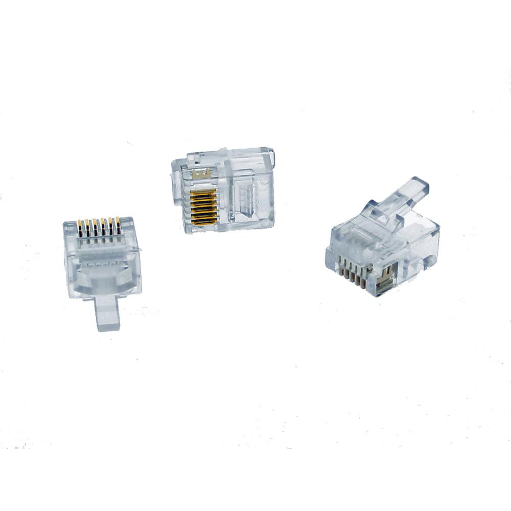 Ideal Rj11 Modular Plugs 25 Pack 85 345 The Home Depot Rj25 Phone Jack Wiring Diagram Store Sku 324778
