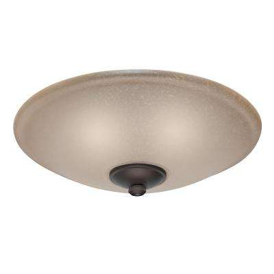 Low Profile Ceiling Fan Light Kit with Toffee Glass