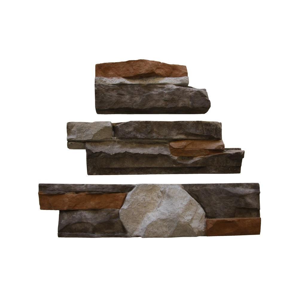 Go-Stone #26 Cherokee Flats 4 in. x 8 in., 4 in. x 12 in., 4 in. x 16 in. Stone Panels (5 sq. ft./Box)