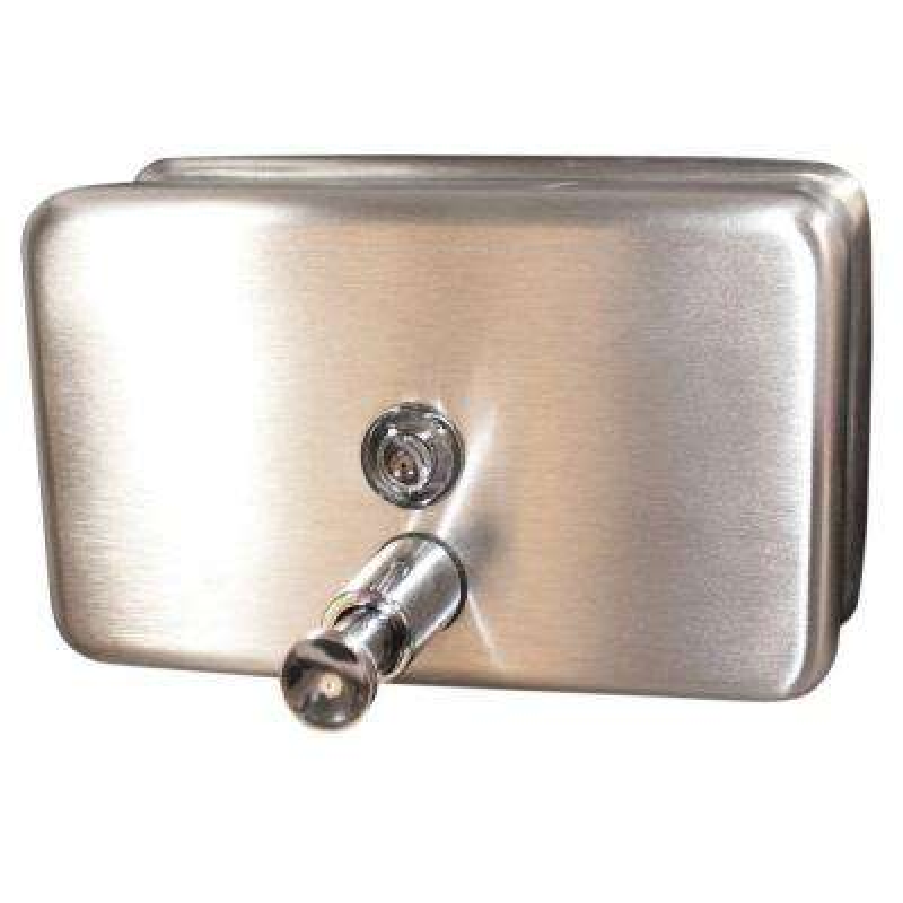 40 fl. oz. 1183 ml Soap Dispenser Manual in Stainless Steel