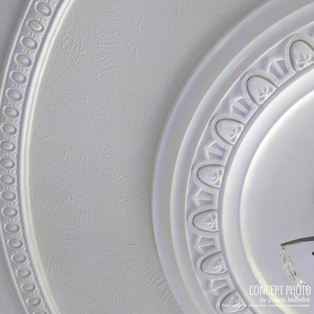 Ekena Millwork 1 1 2 In X 26 1 2 In X 26 1 2 In Polyurethane Jefferson Ceiling Medallion Walnut Cm26jewas The Home Depot
