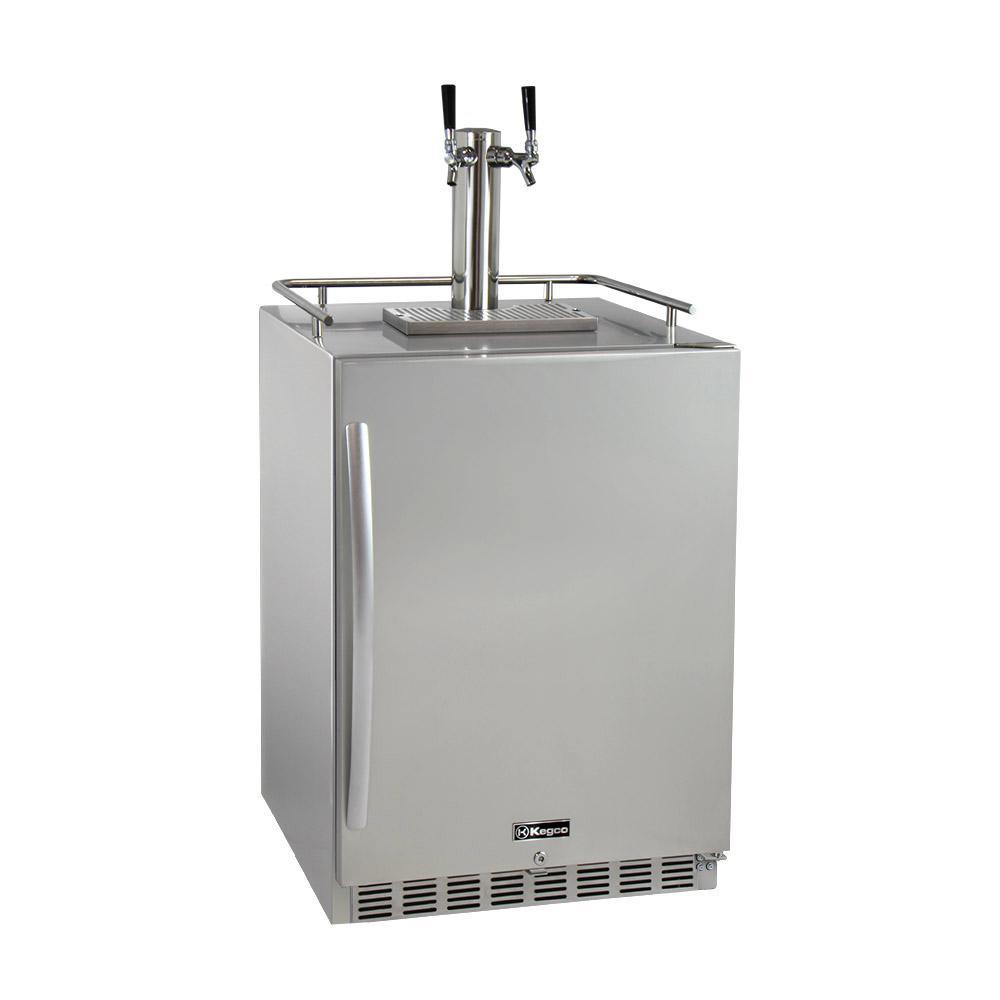 Kegco Digital Outdoor Undercounter Full Size Beer Keg Dispenser with ...