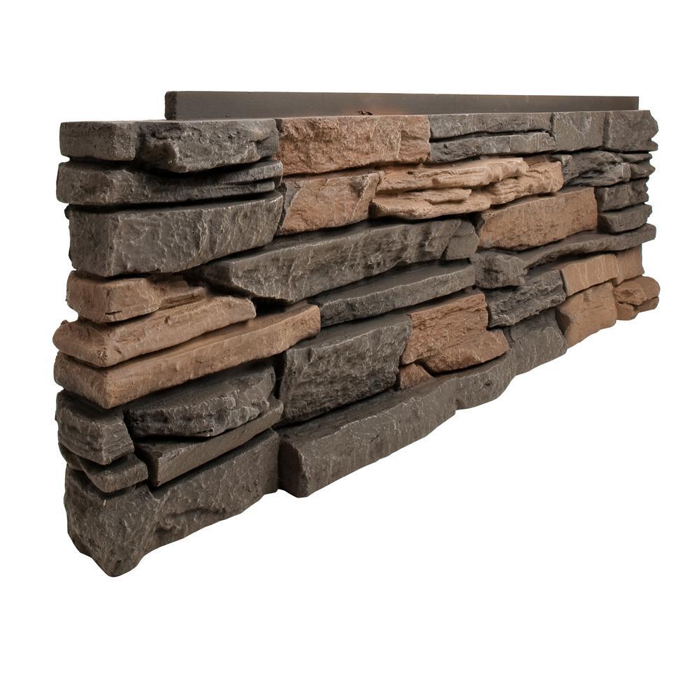 Genstone Stacked Stone Stratford 12 In X 38 In Faux