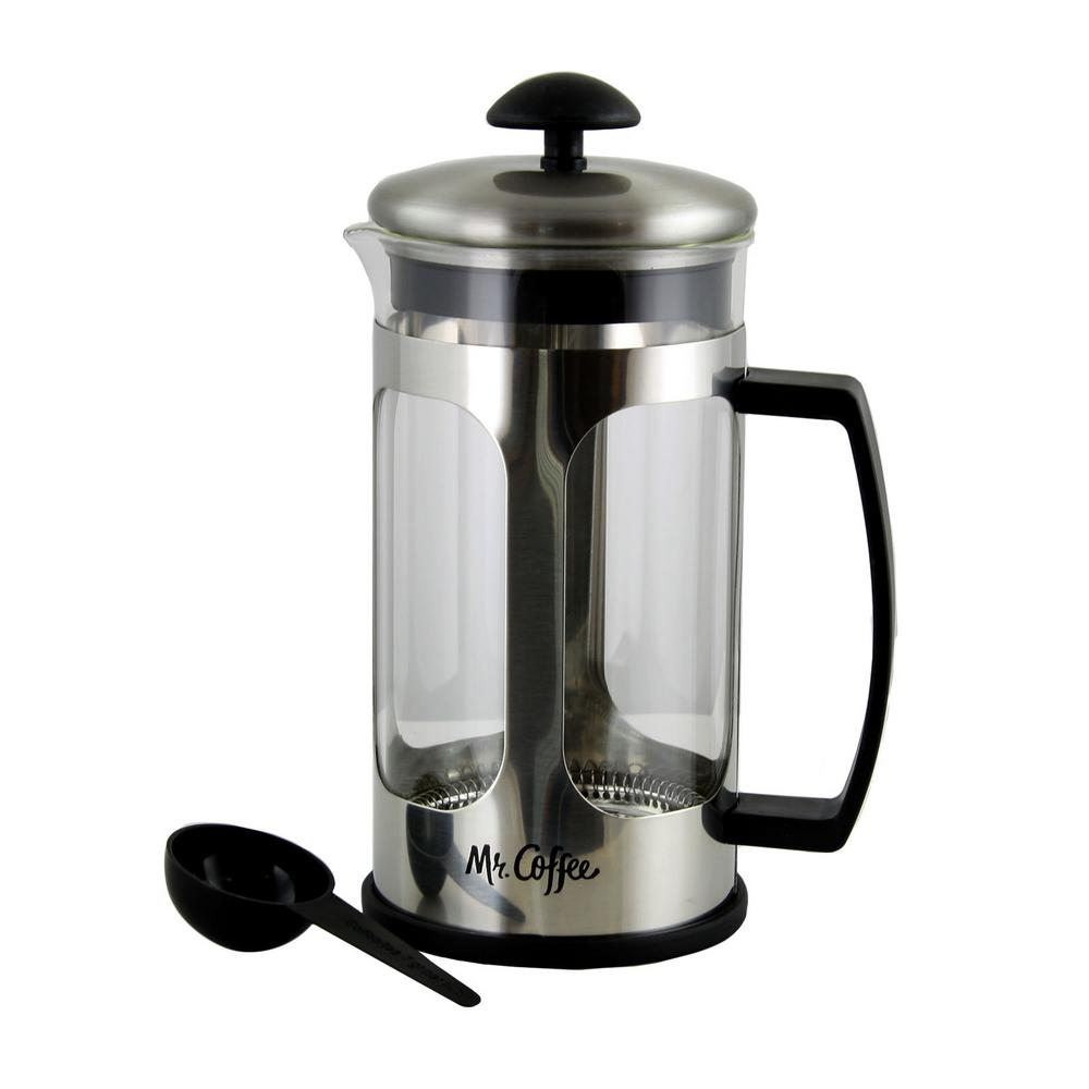 Mr Coffee Daily Brew 4 Cups Stainless Steel Press