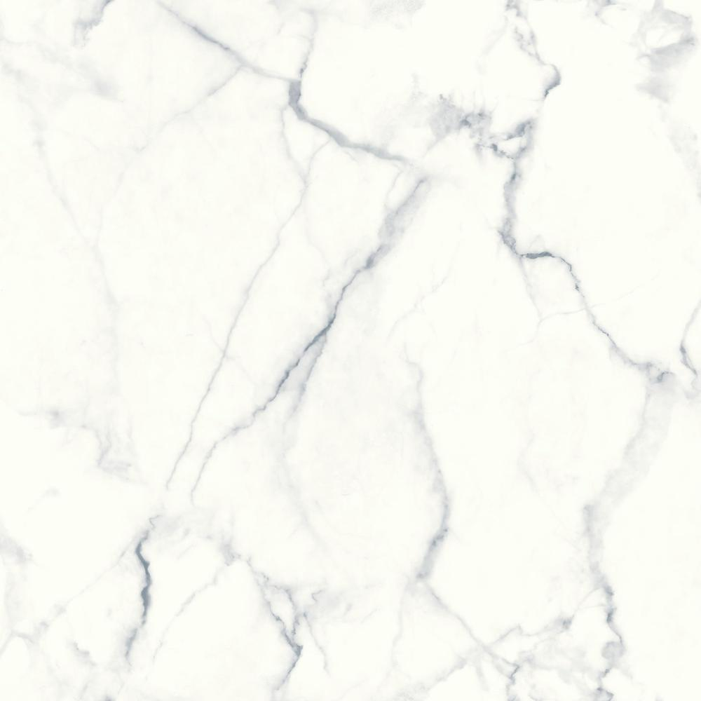 Roommates 2818 Sq Ft Carrara Marble Peel And Stick Wallpaper