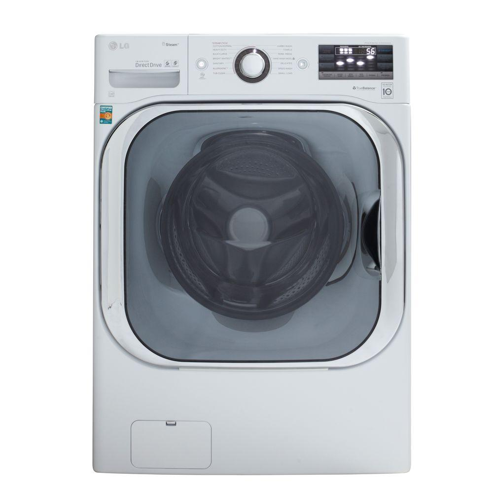 LG Electronics 5.2 DOE cu. ft. High-Efficiency Front Load Washer with Steam in White, ENERGY STAR