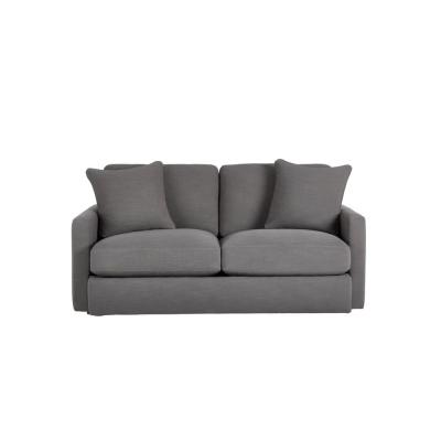 Rutherford Cambric Charcoal Gray Straight Standard Sofa for 2 (71.5 in. W x 35 in. H)