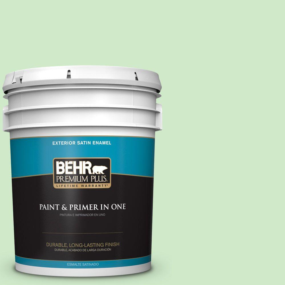 BEHR Premium Plus 5-gal. #440A-3 Mint Frappe Satin Enamel Exterior Paint