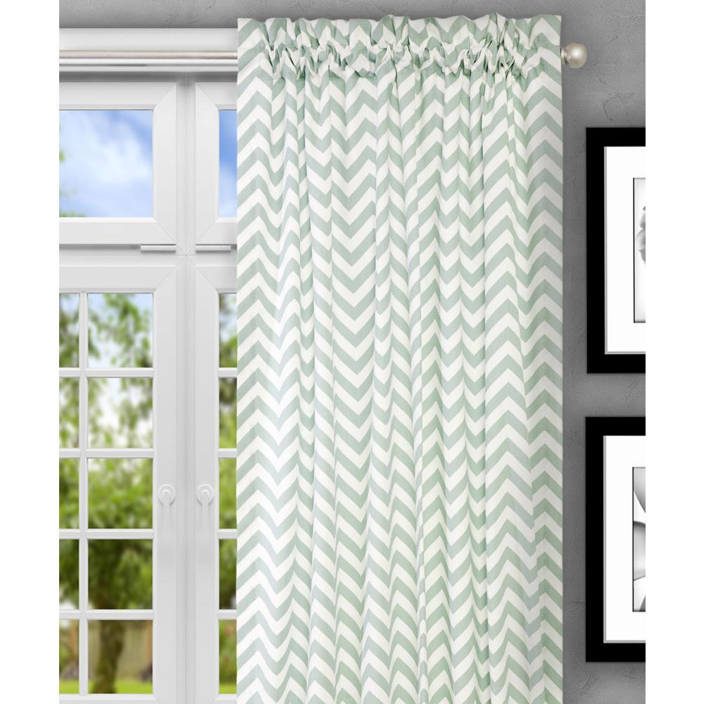 Reston 50 in. W x 84 in. L Spa Cotton Tailored Curtain Panel