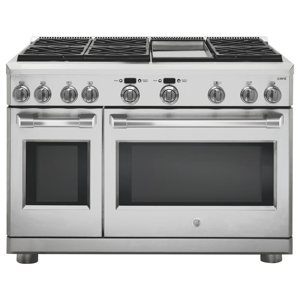 48 in. 8.25 cu. ft. Slide-In Dual Fuel Range with Self-Cleaning