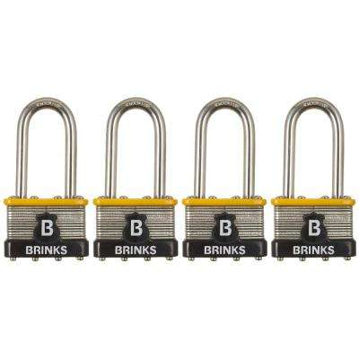 Commercial 50 mm Stainless Steel Laminated Padlock with 2 in. Shackle (4-Pack)
