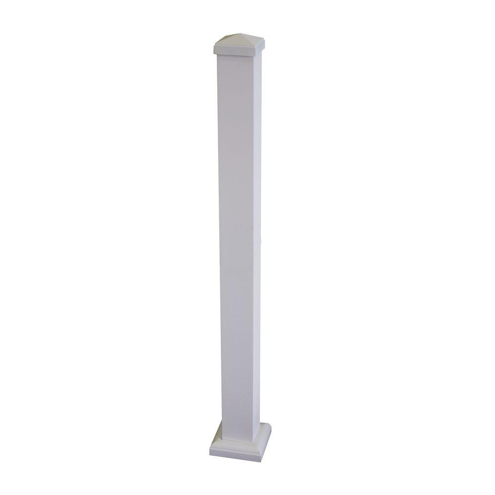 Pro 38 in. x 3 in. White Aluminum Square Post Kit
