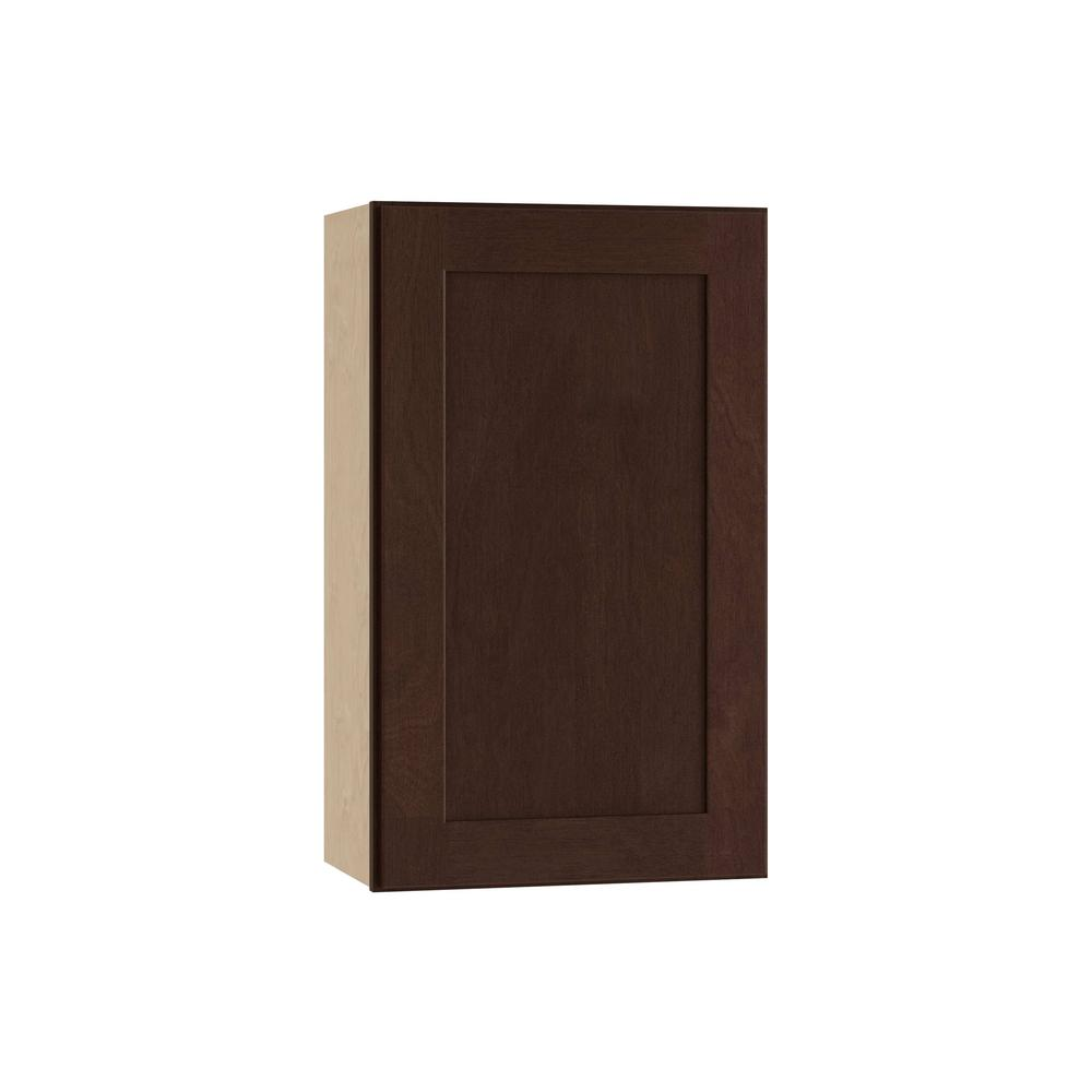 Franklin Assembled 21x36x12 in. Single Door Hinge Left Wall Kitchen Cabinet