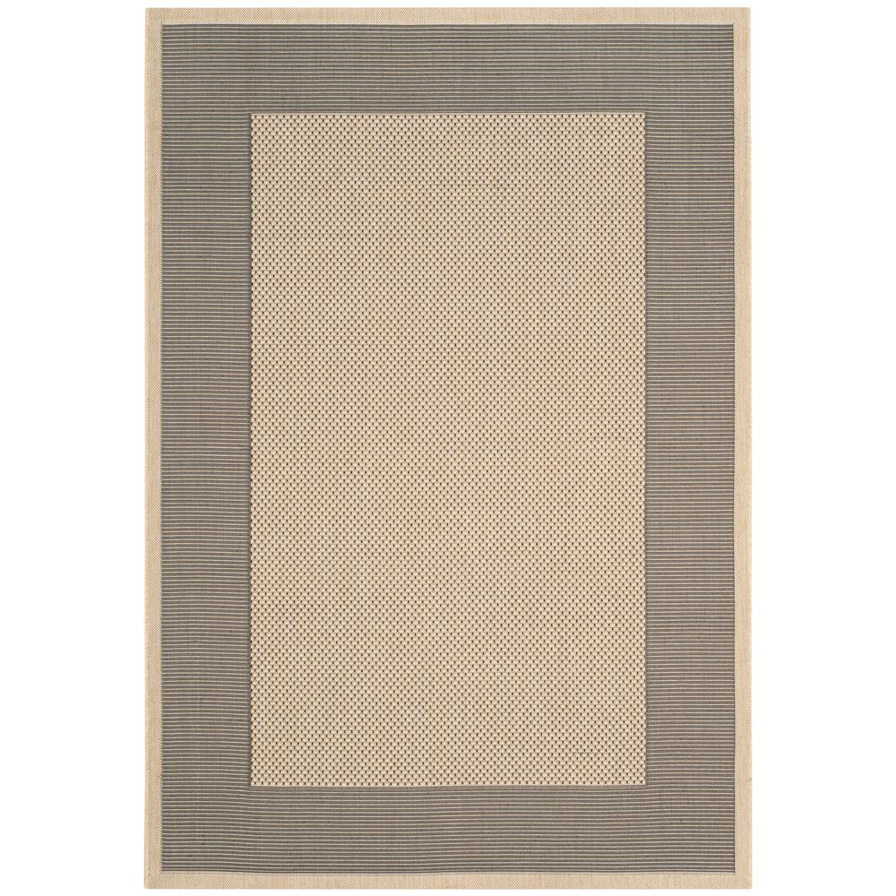 Courtyard Gray/Cream 6 ft. 7 in. x 9 ft. 6 in.