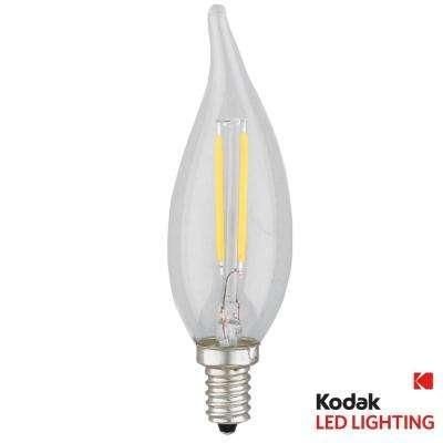 25W Equivalent Warm White E12 Candle Flame Tip Dimmable LED Light Bulb