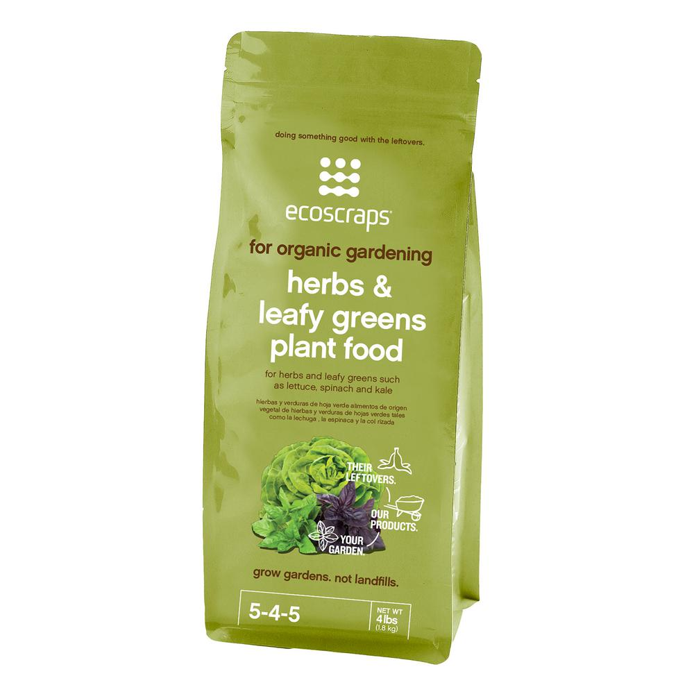 EcoScraps 4 lbs. Organic Herb and Leafy Green Plant Food