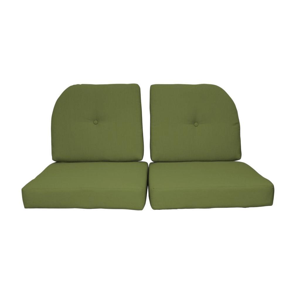 Sunbrella Kiwi 4-Piece Outdoor Loveseat Cushion Set