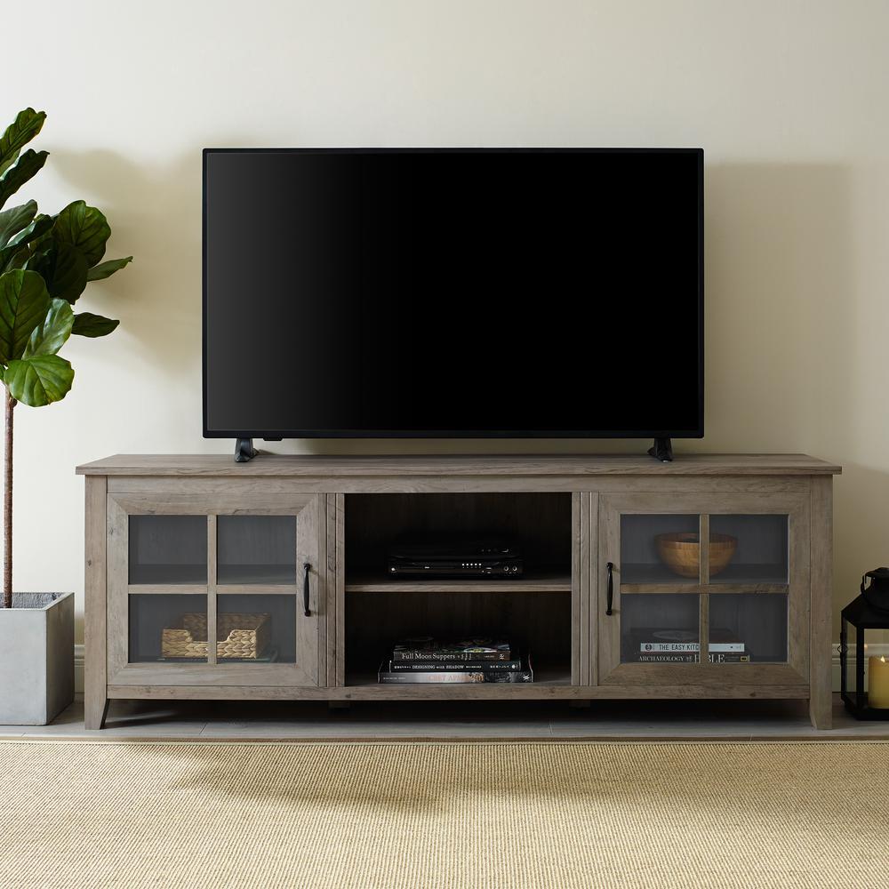 Walker Edison Furniture Company 70 In Grey Wash Farmhouse Wood Tv