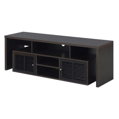 Lexington 59 in. Espresso Wood TV Stand Fits TVs Up to 65 in. with Storage Doors