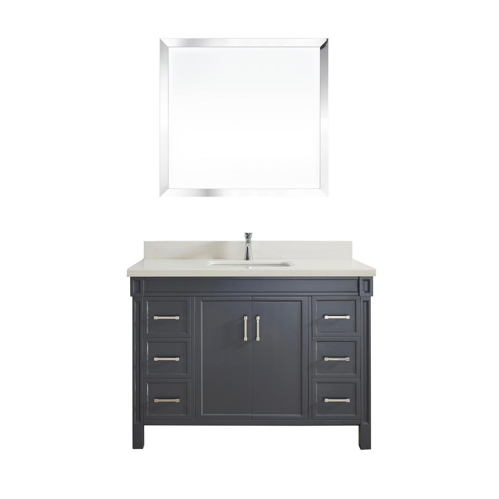 Superior Studio Bathe Serrano 48 In. W X 22 In. D Vanity In Pepper Gray
