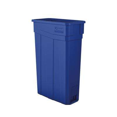 Slim 23 Gal. Blue Plastic Trash Can